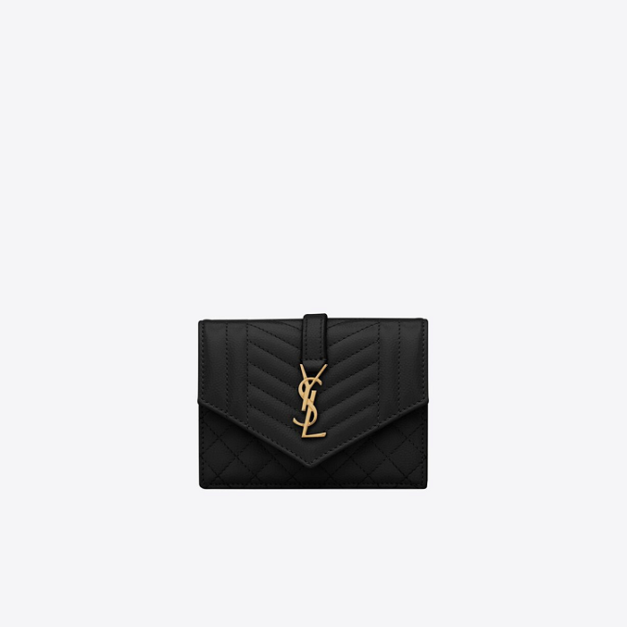 유럽직배송 입생로랑 SAINT LAURENT monogram card case in mix matelassé grain de poudre embossed leather 651027BOWT11000
